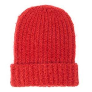 Fuzzy Red Beanie-NWT-SOFT & Stylish